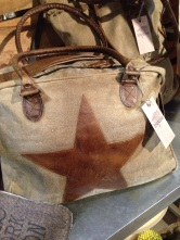 awesome leather star bag w/long strap