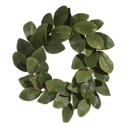 """24"""" Faux Magnolia Wreath"""